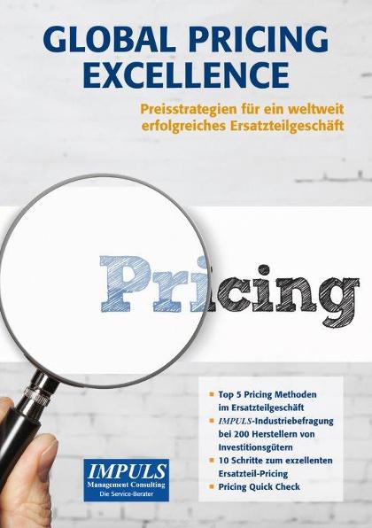 Lupe auf Pricing Schriftzug; Ersatzteil Pricing