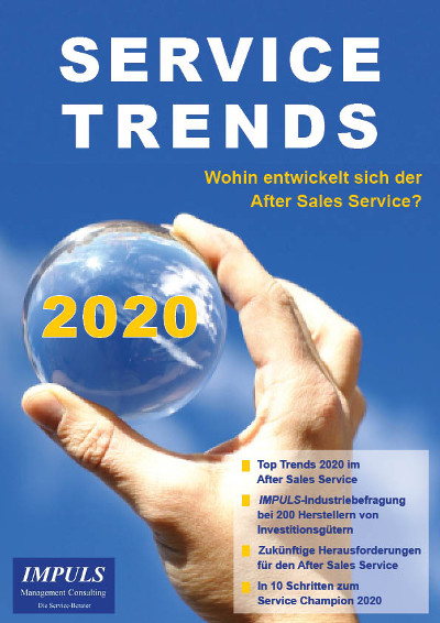 Hand hält Glaskugel mit Trends 2020