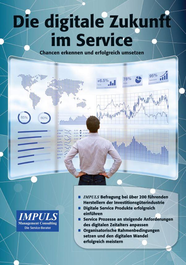 Business Mann vor digitaler Tafel; digitale Service Zukunft